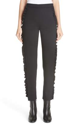 Fuzzi Ruffle Side Stretch Woven Pants