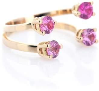 Delfina Delettrez Dots 18kt gold phalanx ring with sapphires