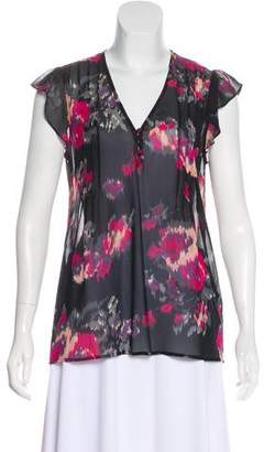 Joie Silk Patterned Blouse