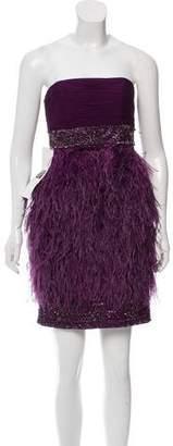 Sue Wong Embellished Strapless Mini Dress w/ Tags