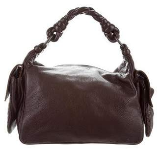 Pre Owned At Therealreal Bottega Veneta Intrecciato Trimmed Double Pocket Hobo