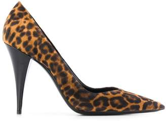 Saint Laurent leopard print 100 pumps