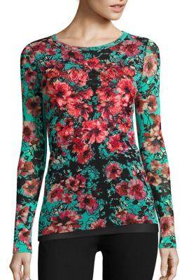 Fuzzi Vintage Floral Top $485 thestylecure.com