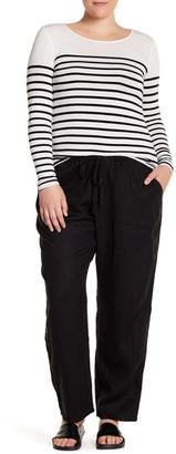 Allen Allen Drawstring Linen Pant (Plus Size) $98 thestylecure.com