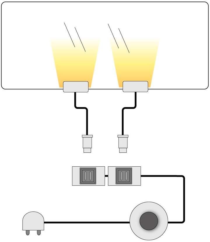 Trendteam EEK A+, LED-Glasbodenbeleuchtung Lumbre (2er-Set)