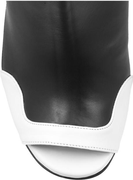 Roland Mouret Damier leather slingbacks
