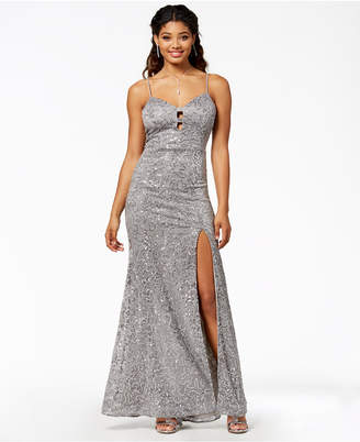 B. Darlin Juniors' Sequined Sweetheart Gown, Created for Macy's