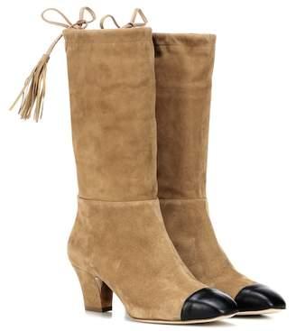Rupert Sanderson Tiptoe suede boots