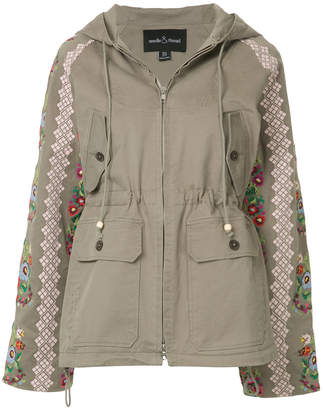 Needle & Thread embroidered hooded jacket