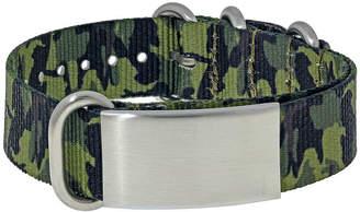 JCPenney FINE JEWELRY Mens Stainless Steel & Green Camo ID Bracelet