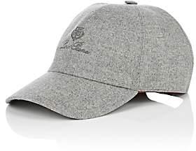Loro Piana Men's Cashmere Baseball Cap-Gray