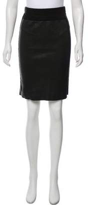 Hache Leather Mini Skirt