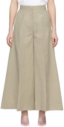 Stella McCartney Beige Wide-Leg Trousers