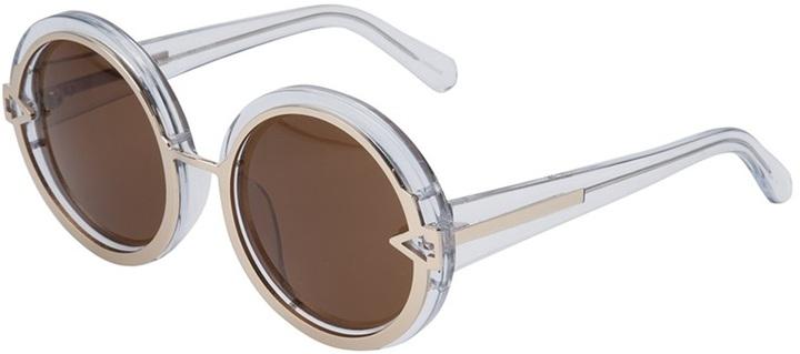 Karen Walker clear circle frame sunglasses