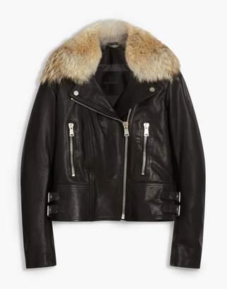 Belstaff Marvingt 2.0 Biker Jacket With Fur Black