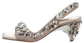 Louis Vuitton Embellished Slingback Sandals