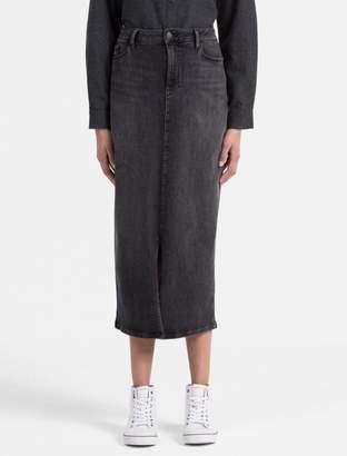 Calvin Klein long denim skirt