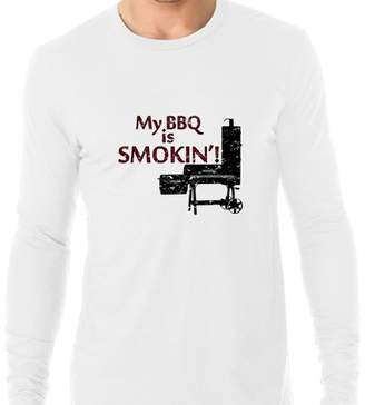 Hollywood Thread My BBQ Is Smoking! - Cool BBQ Smoker Graphic Men's Long Sleeve T-Shirt