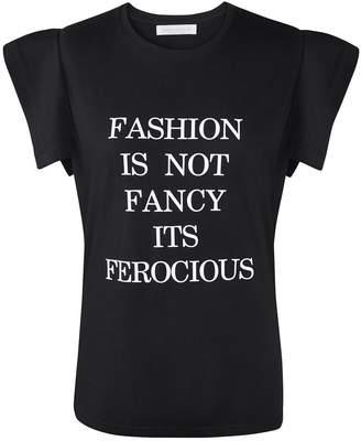 Siobhan Molloy - Black Fashion Is Not Fancy Fly-Away Sleeve T-Shirt