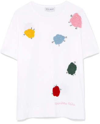 Mira Mikati Appliquéd Cotton-jersey T-shirt - White