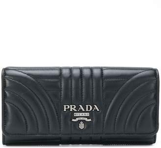 Prada quilted logo wallet