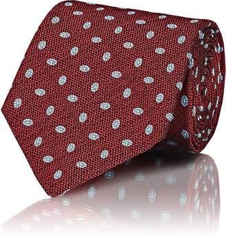 Isaia Men's Oval-Dot Silk Jacquard Necktie