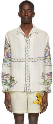 Off-White Bode Pagoda Scene Havana Shirt