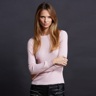 Minnie Rose - Long Sleeve Ribbed T-shirt $99 thestylecure.com