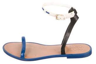 Tory Burch Round-Toe Rubber Sandals