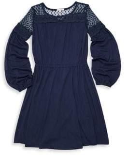 Ella Moss Girl's Mesh Embroidery Dress