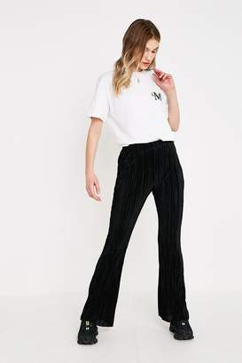 Urban Outfitters Black Plisse Flare Trousers