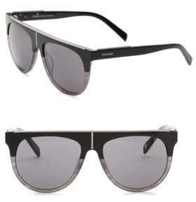 Balmain Flat Top 55MM Aviator Sunglasses