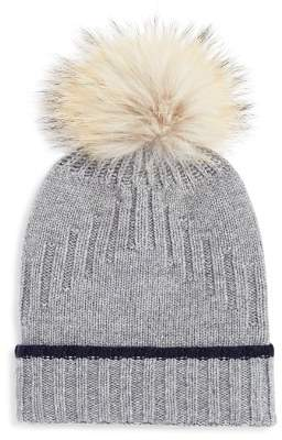 Bloomingdale's The Men's Store at Fur-Trimmed Knit Beanie - 100% Exclusive