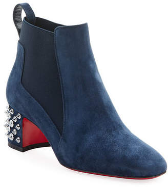 Christian Louboutin Study Suede Red Sole Booties