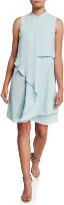 Nanette Lepore Nanette Sleeveless Asymmetric Popover Shift Dress