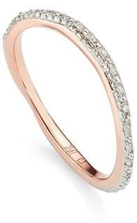 Monica Vinader Riva Wave Diamond Eternity Ring