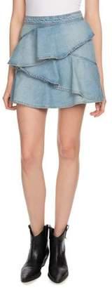 Etoile Isabel Marant Coati Ruffle Denim Mini Skirt