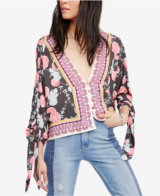 Free People Freshly Squeezed Printed Top $98 thestylecure.com