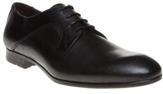 Sole New Mens Black Bordey Leather Shoes Lace Up