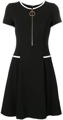 DKNY contrast trim dress