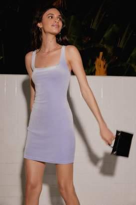 Urban Outfitters Hailey Velvet Square-Neck Mini Dress