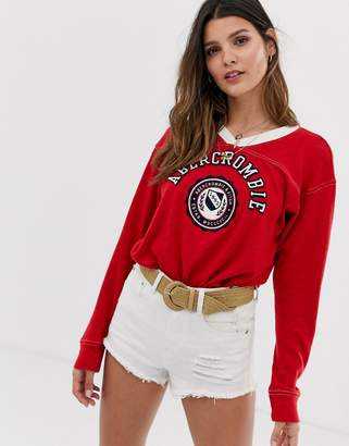 Abercrombie & Fitch ringer t-shirt with long sleeves