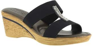 Easy Street Shoes Tuscany by Stretch Wedge Slide Sandals - Napoli