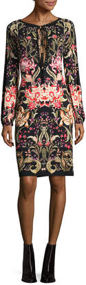 Roberto Cavalli Lace-Keyhole Sheath Dress
