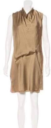 Helmut Lang Silk Mini Dress Gold Silk Mini Dress