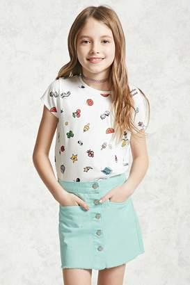 Forever 21 Girls Button-Front Skirt (Kids)