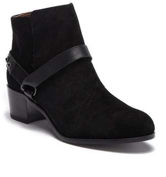H By Hudson Aylene Leather Studded Strap Bootie