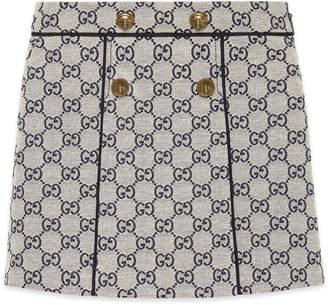 Gucci GG Jacquard Wide Pleat Skirt, Size 4-12