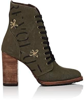 Esquivel Women's Dana Canvas Ankle Boots