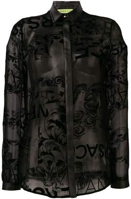 Versace lace panelled shirt